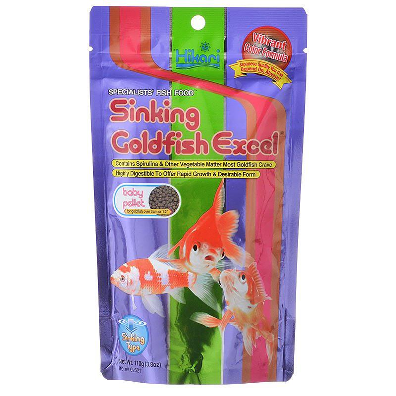 Hikari Sinking Goldfish Excel Baby Pellet Food, 3.88-oz