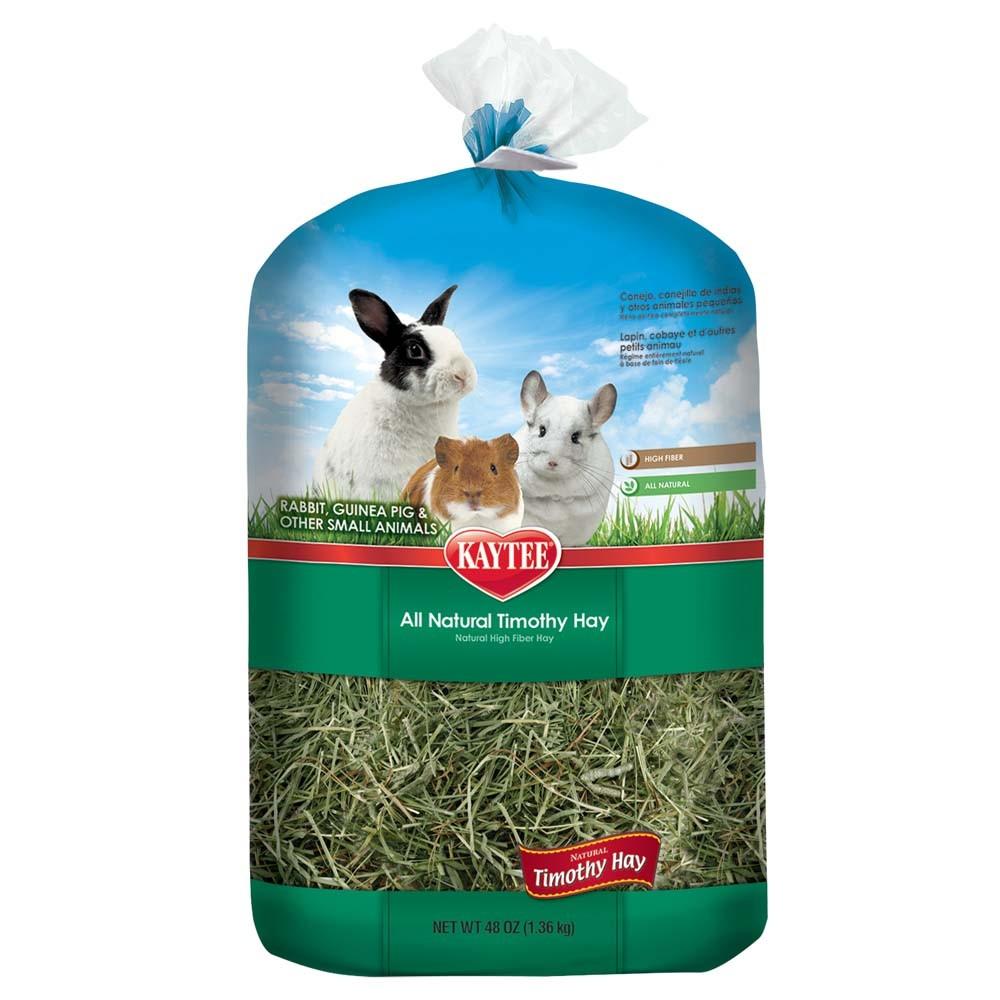 Kaytee Natural Timothy Hay Small Animal Food, 48-oz
