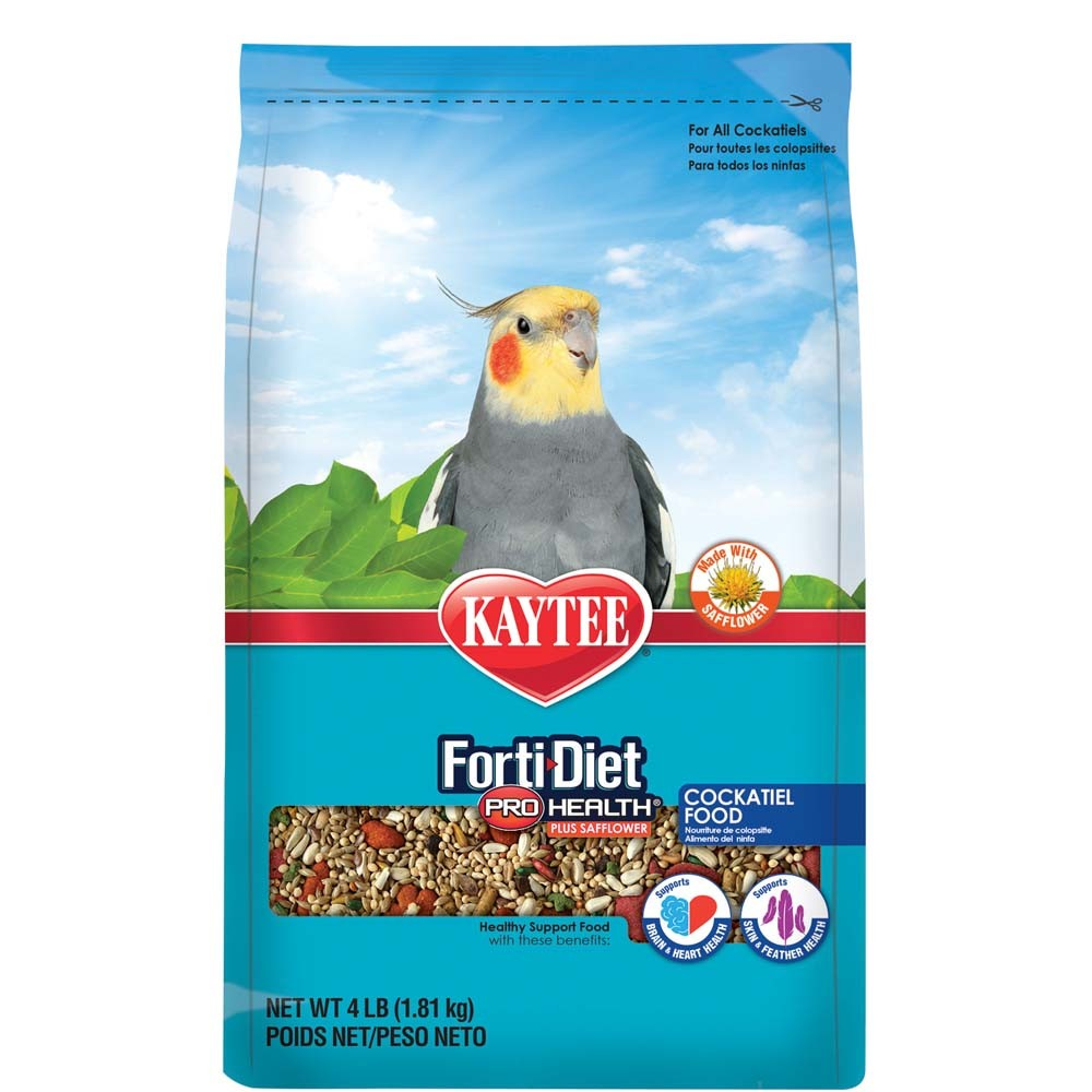 Kaytee Forti-Diet Pro Health Feather Cockatiel Safflower Food Image