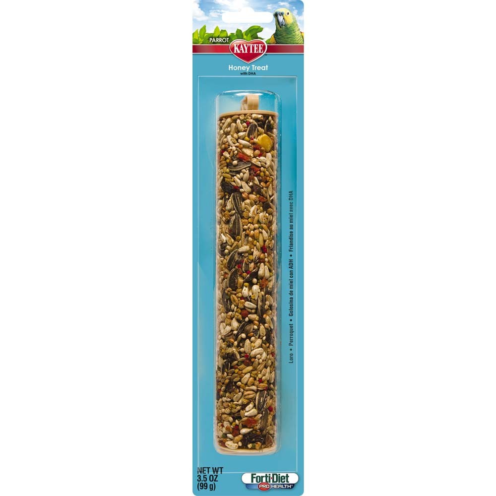 Kaytee Forti-Diet Pro Health Parrot Honey Stick, 3.5-oz (Size: 3.5-oz) Image