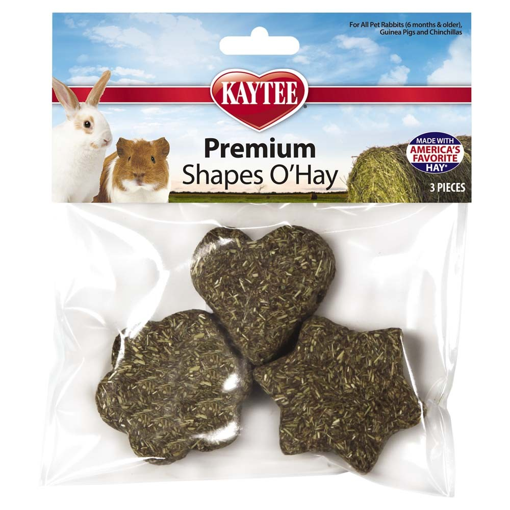 Kaytee Premium Timothy Shapes O'Hay Treat, 3-count