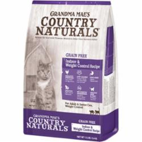 Grandma Mae's Country Naturals Grain-Free Indoor & Weight Control Recipe Dry Cat Food, 12-lb