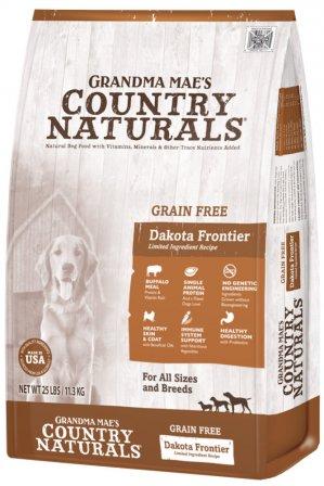 Grandma Mae's Country Naturals Grain-Free Dakota Frontier Buffalo Recipe Dry Dog Food, 25-lb