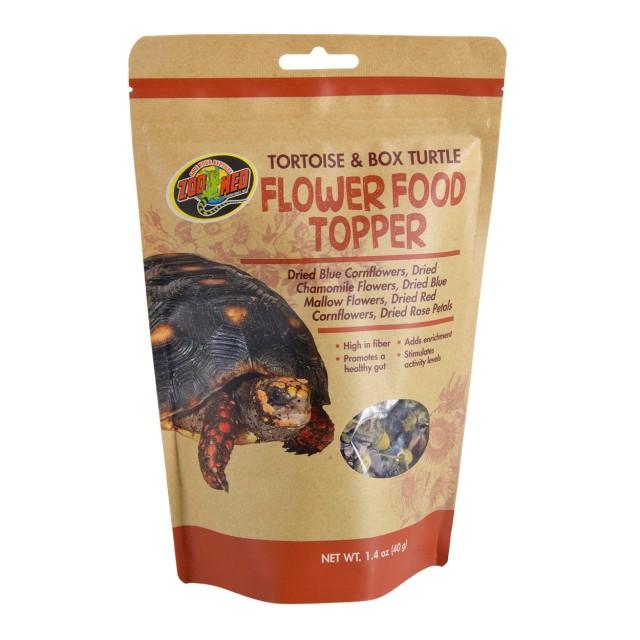 Zoo Med Flower Food Topper Tortoise & Box Turtle Food, 1.4-oz