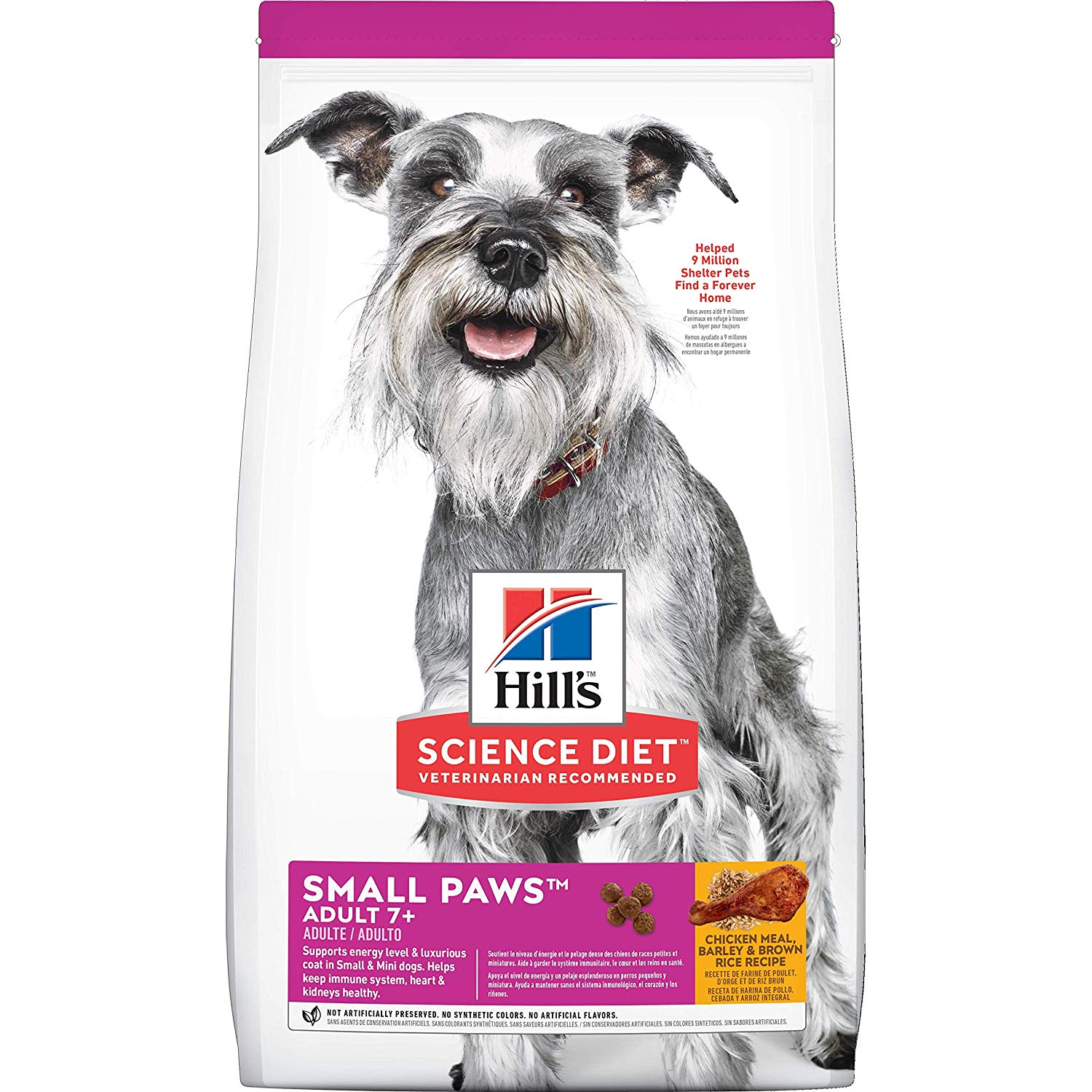 Hill's Science Diet Adult 7+ Small Paws Chicken Meal, Barley & Brown Rice Recipe Dry Dog Food, 15.5-lbs