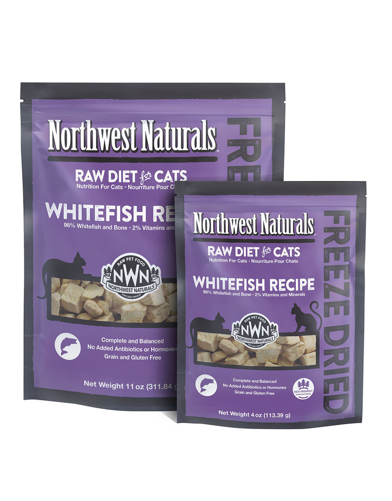 Northwest Naturals Raw Diet Grain-Free Whitefish Nibbles Freeze Dried Cat Food, 11-oz