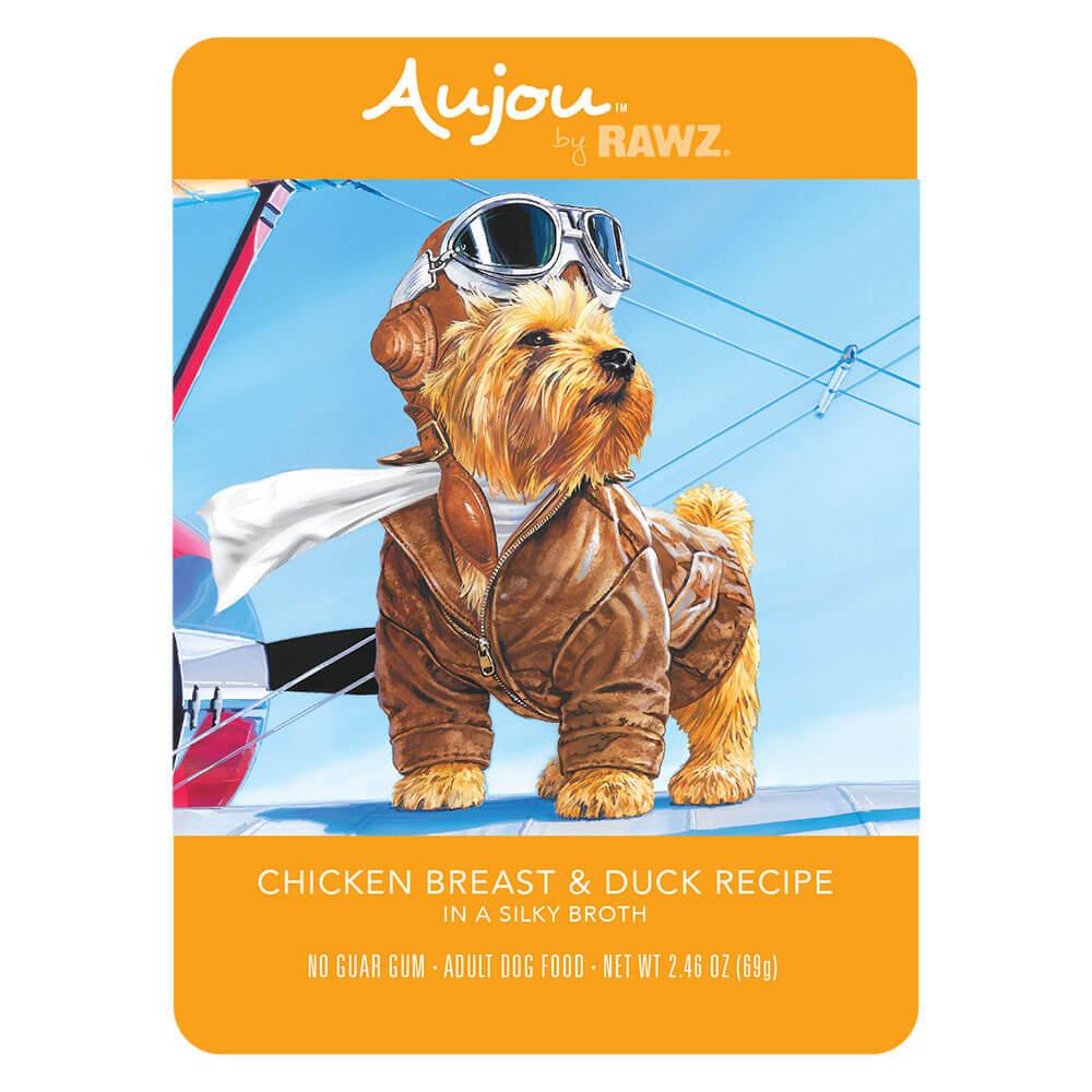 Aujou by RAWZ Chicken & Duck Wet Dog Food, 2.46-oz (Size: 2.46-oz) Image
