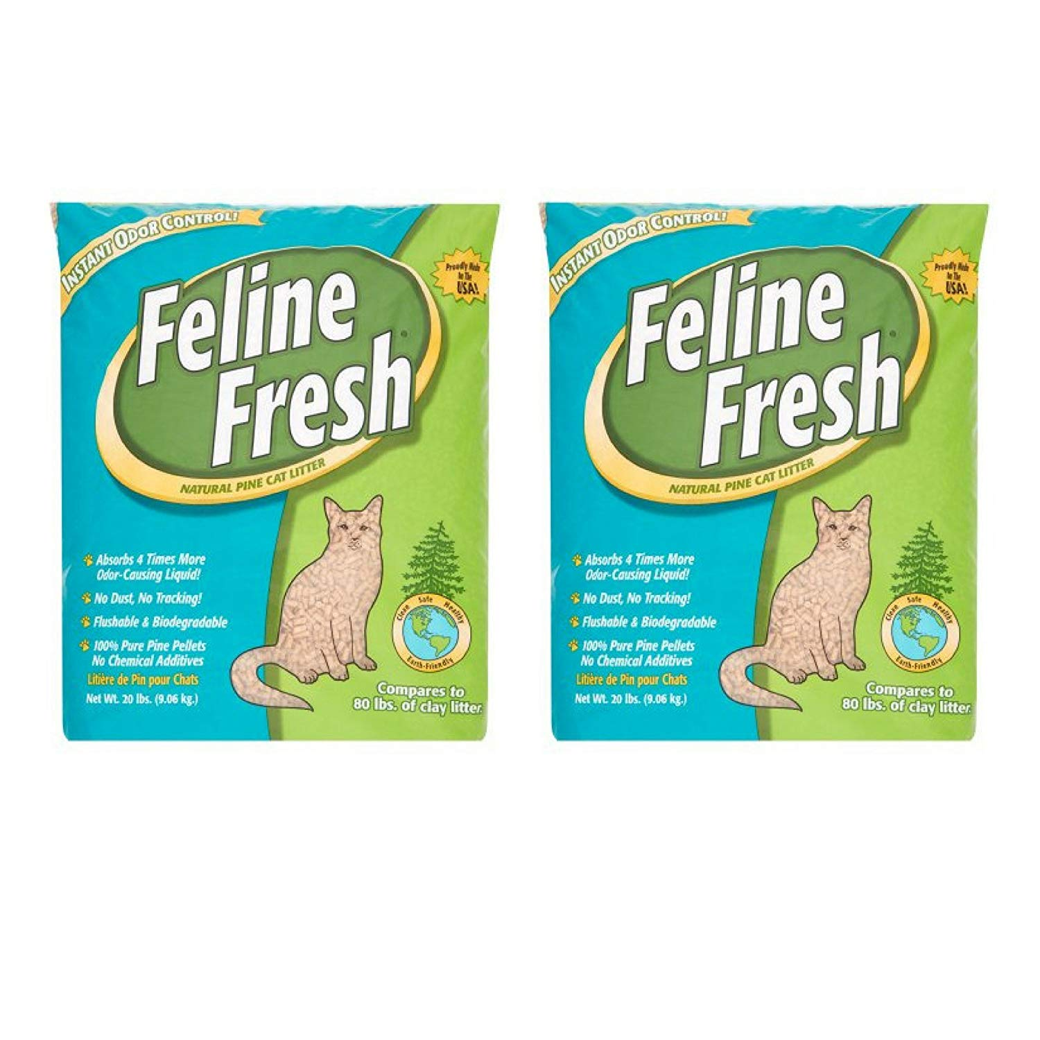 Feline Fresh Natural Pine Pellets, 40-lbs