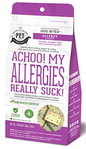 Granville Island Pet Treatery Allergy Support Nutra Supplement Bites for Dogs, 8.47-oz (Size: 8.47-oz) Image