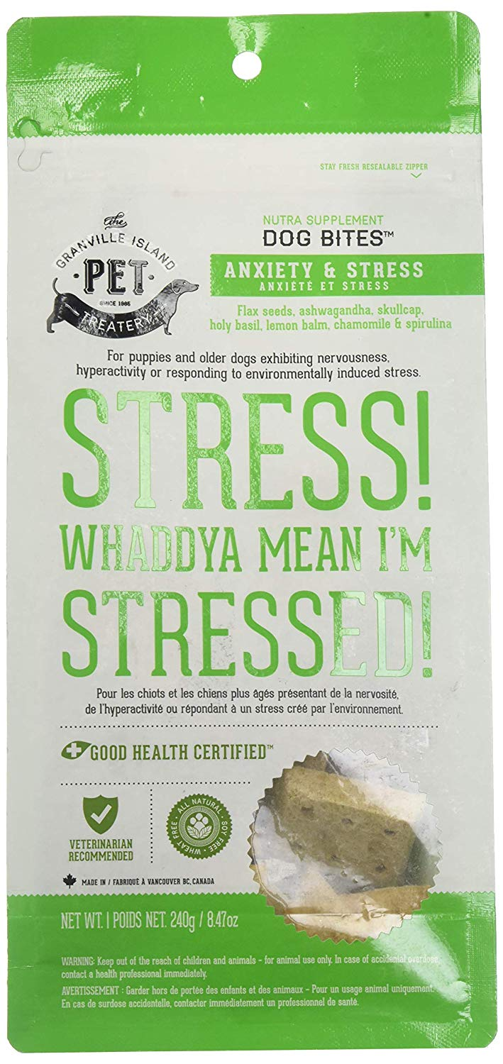 Granville Island Pet Treatery Anxiety and Stress Nutra Bites Dog Treats, 8.47-oz