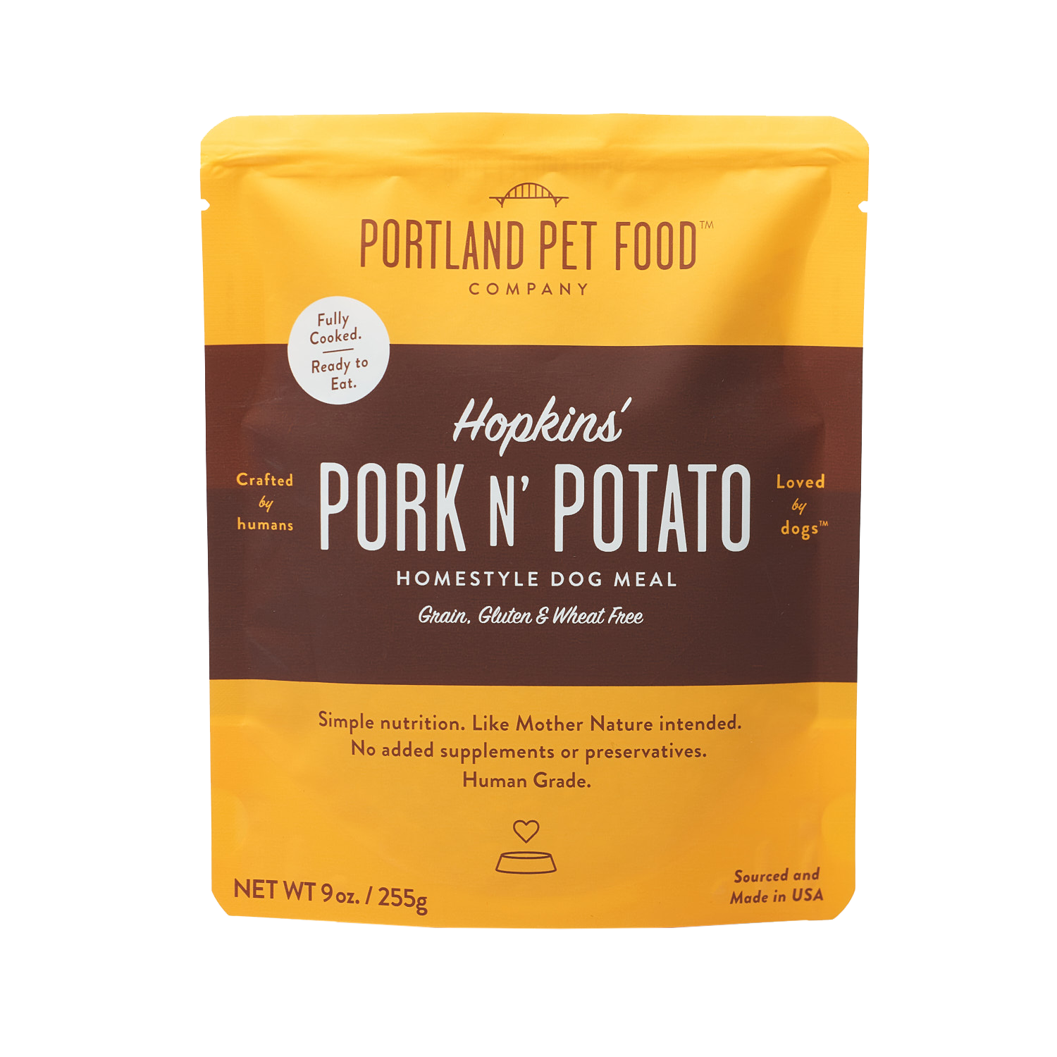 Portland Pet Food Hopkins' Pork N' Potato Grain Free Dog Meal, 9-oz (Size: 9-oz) Image