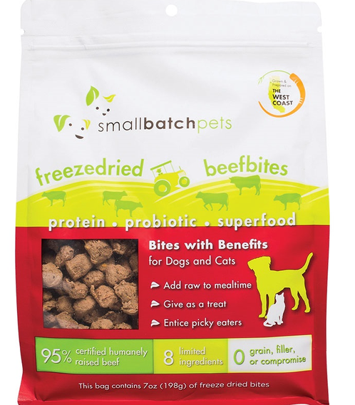 Small Batch Freeze-Dried Small Beef Bites Dog Treats, 7-oz