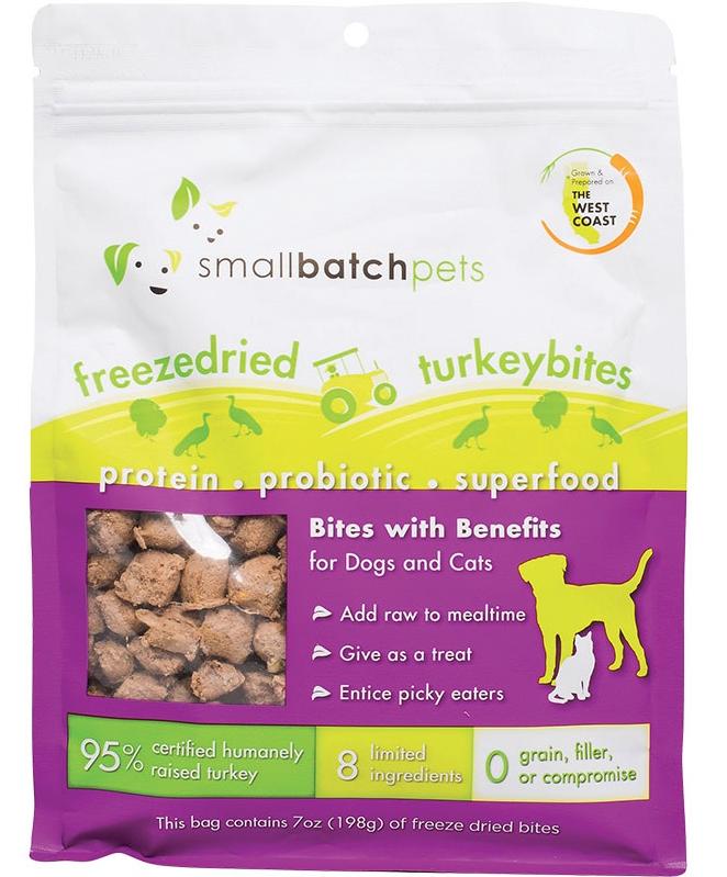 Small Batch Freeze-Dried Small Turkey Bites Dog Treats, 7-oz