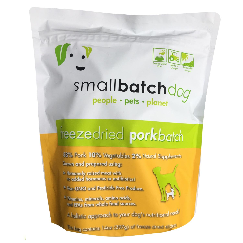 Small Batch Freeze-Dried Pork Recipe Sliders Dog Food, 14-oz