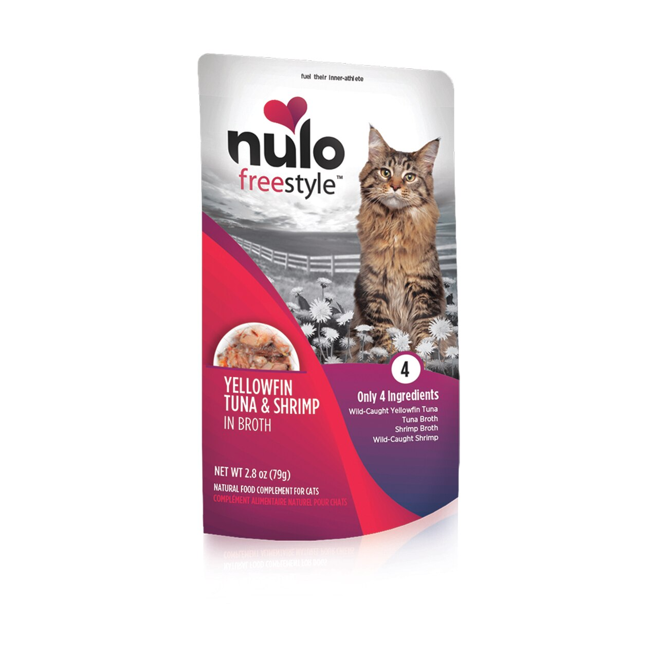 Nulo Cat Freestyle Pouch Yellowfin Tuna & Shrimp in Broth Cat Food Topper, 2.8-oz