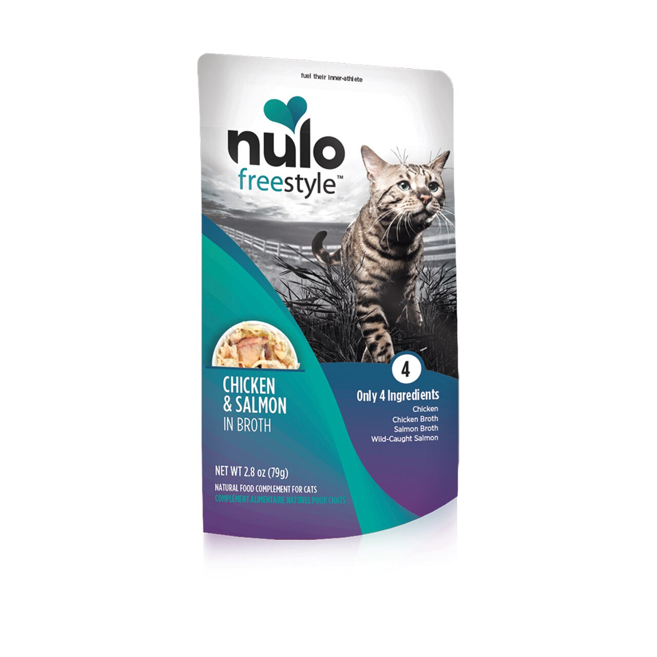 Nulo Cat Freestyle Pouch Chicken & Salmon in Broth Cat Food Topper, 2.8-oz