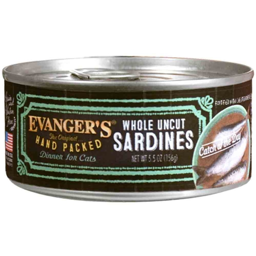 Evanger's Grain-Free Hand Packed Catch of the Day Sardine Canned Dog Food, 5.5-oz