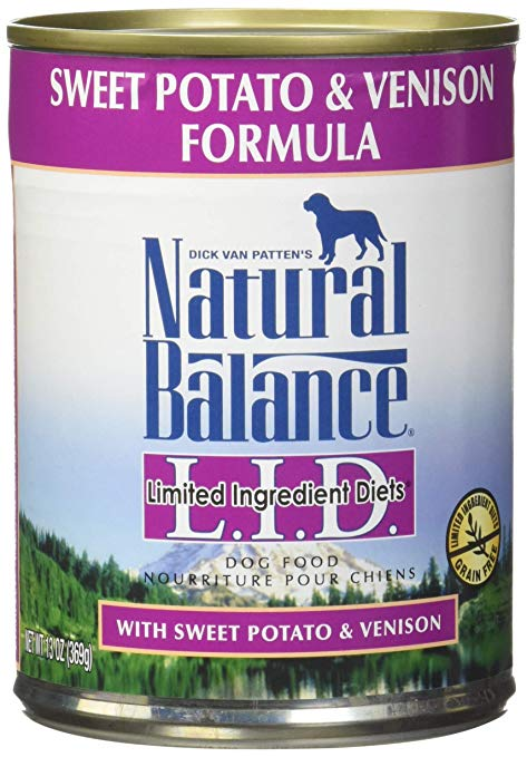 Natural Balance L.I.D. Limited Ingredient Diets Sweet Potato & Venison Formula Grain-Free Canned Dog Food, 13-oz