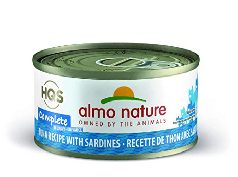 Almo Nature HQS Complete Tuna with Sardine Grain-Free Canned Cat Food, 2.4-oz