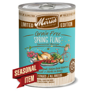 Merrick Limitied Edition Grain-Free Spring Fling Canned Dog Food, 12.7-oz