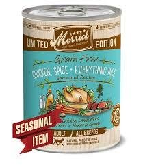 Merrick Limited Edition Grain-Free Chicken Spice & Everything Nice Adult Canned Dog Food, 12.7-oz