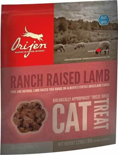 Orijen Treats Ranch Raised Lambs Freeze-Dried Cat Treats, 1.25-oz (Size: 1.25-oz) Image