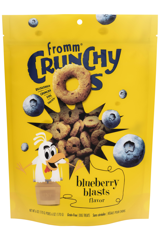 Fromm Crunchy O's Blueberry Blasts Dog Treats, 6-oz, case of 6