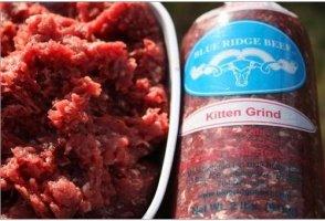 Blue Ridge Beef Beef Grind Cat & Kitten Frozen Cat Food, 2-lb