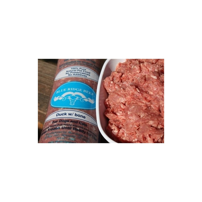 Blue Ridge Beef Duck with Bone Frozen Dog Food, 2-lb