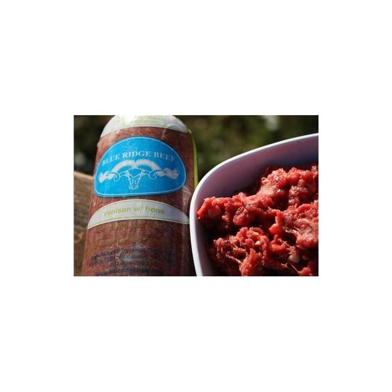 Blue Ridge Beef Venison with Bone Frozen Dog Food, 2-lb