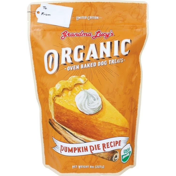 Grandma Lucy Organic Baked Pumpkin Pie Recipe Dog Treats, 8-oz