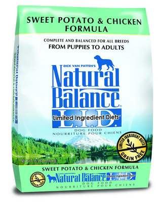 Natural Balance L.I.D. Limited Ingredient Diets Chicken & Sweet Potato Formula Grain-Free Dry Dog Food, 26-lb