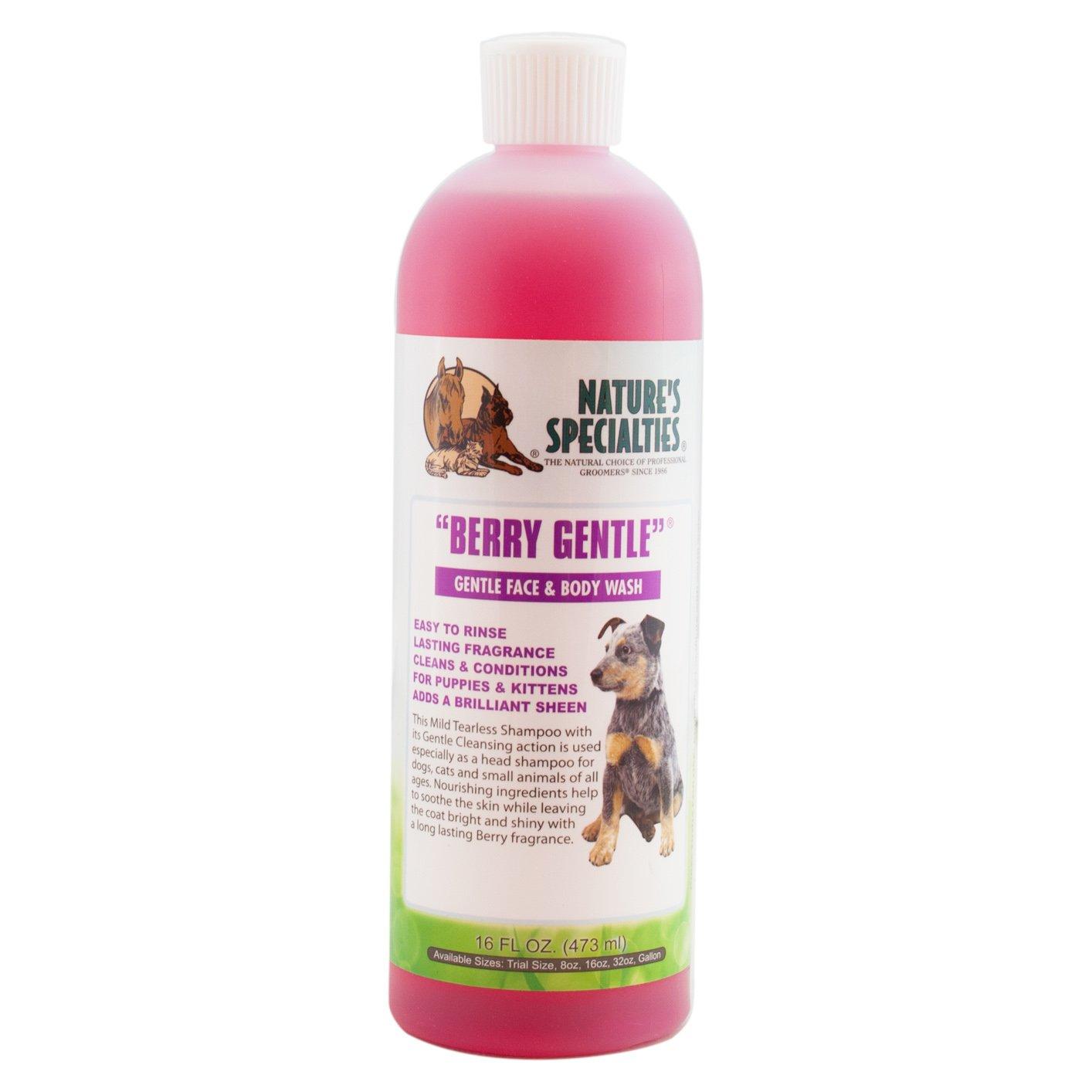 Natures Specialties Berry Gentle Dog & Cat Shampoo, 16-oz