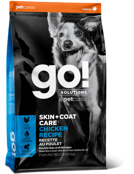 Petcurean Dog Go! Solutions Skin + Coat Care Chicken Dry Dog Food, 12-lb