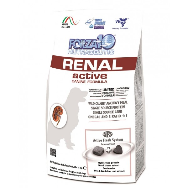 Forza10 Active Line Kidney Renal Active Limited Ingredients Formula Dry Dog Food, 8.8-lb