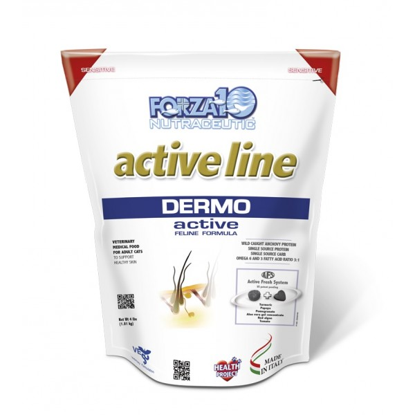 Forza10 Active Line Dermo Active Adult Dry Cat Food, 4-lb