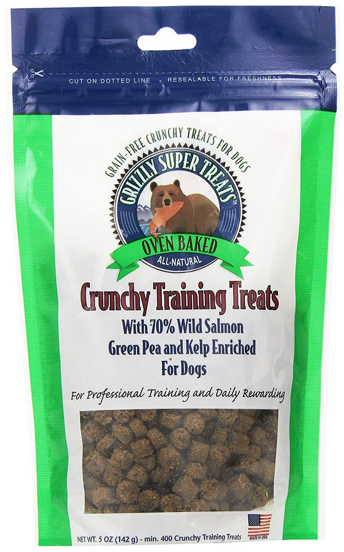 Grizzly Crunchy Training Treats Wild Salmon, Green Pea & Kelp Dog Treats, 5-oz (Size: 5-oz) Image