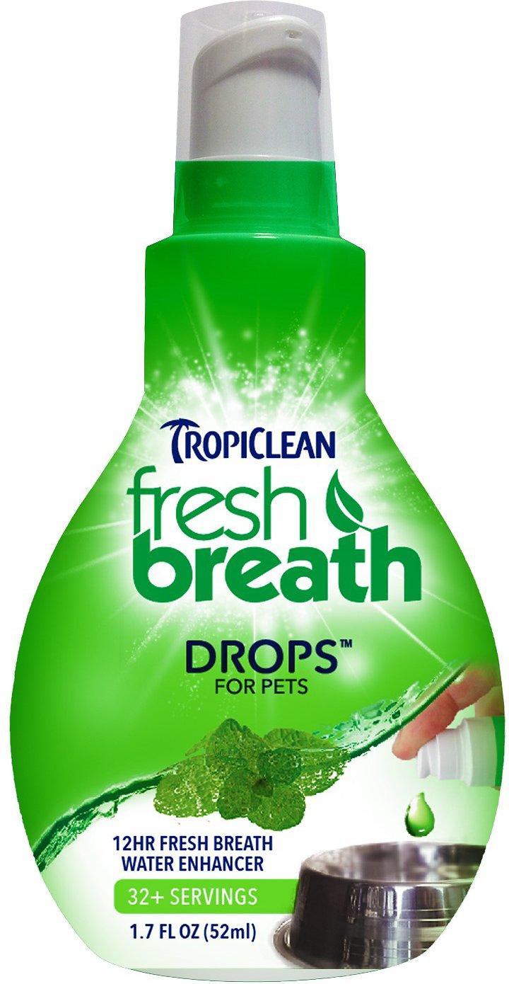TropiClean Fresh Breath Drops, 1.7-oz bottle