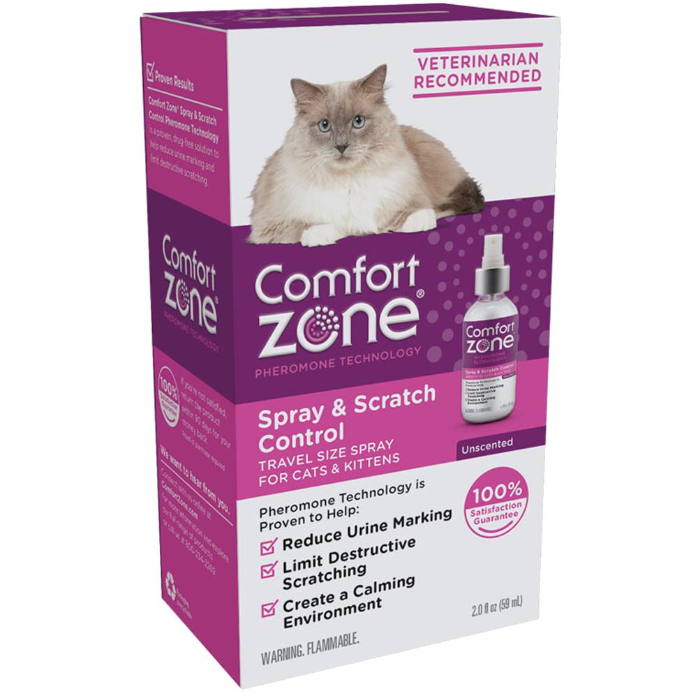 Comfort Zone Spray & Scratch Control Cat Spray, 2-oz