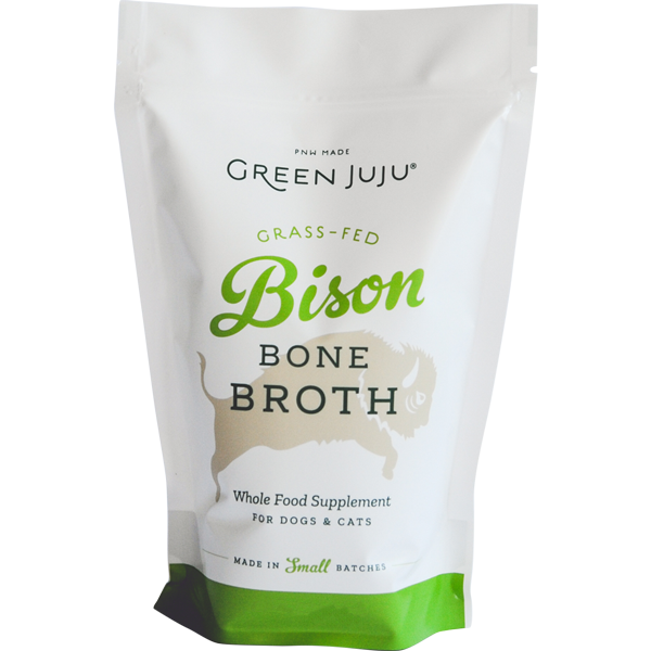 Green Juju Bison Bone Broth Supplement for Cats & Dogs, 20-oz