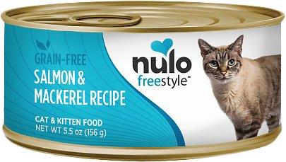 Nulo Cat Freestyle Pate Salmon & Mackerel Recipe Grain-Free Canned Cat & Kitten Food, 5.5-oz
