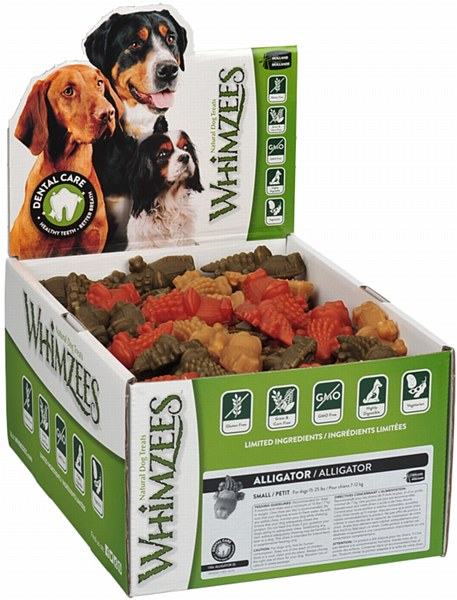 WHIMZEES Alligator Dental Dog Treats, Small, 150 count