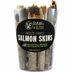 Vital Essentials Raw Bar Salmon Skin Freeze-Dried Dog Treat, 20-count