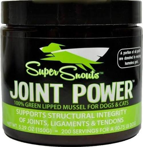 Diggin' Your Dog Super Snouts Joint Powder 100% Green Lipped Mussel for Dogs, 150-g