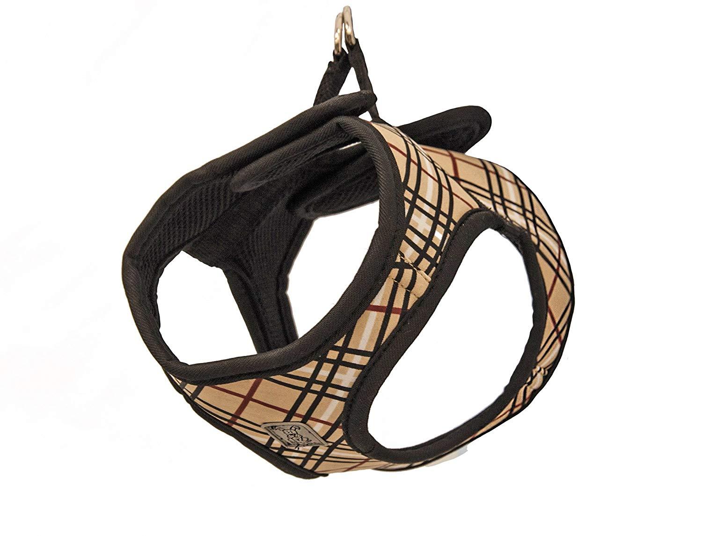 RC Pet ProductsStep-In Cirque Tan Tartan Dog Harness, Small