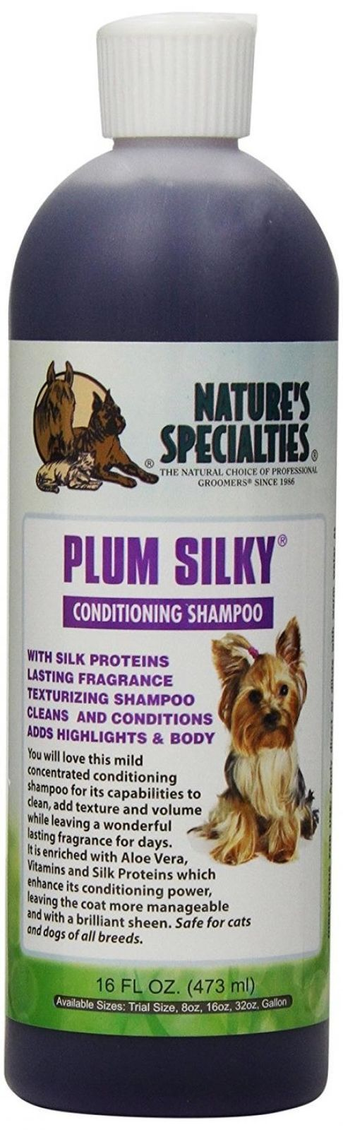 Plum Silky Shampoo & Conditioner for Dogs & Cats, 16-oz