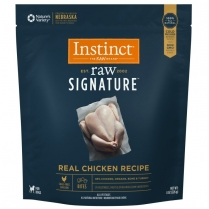 Instinct by Nature's Variety Raw Signature Real Chicken Recipe Medallion Grain-Free Frozen Dog Food, 3-lb (Size: 3-lb) Image