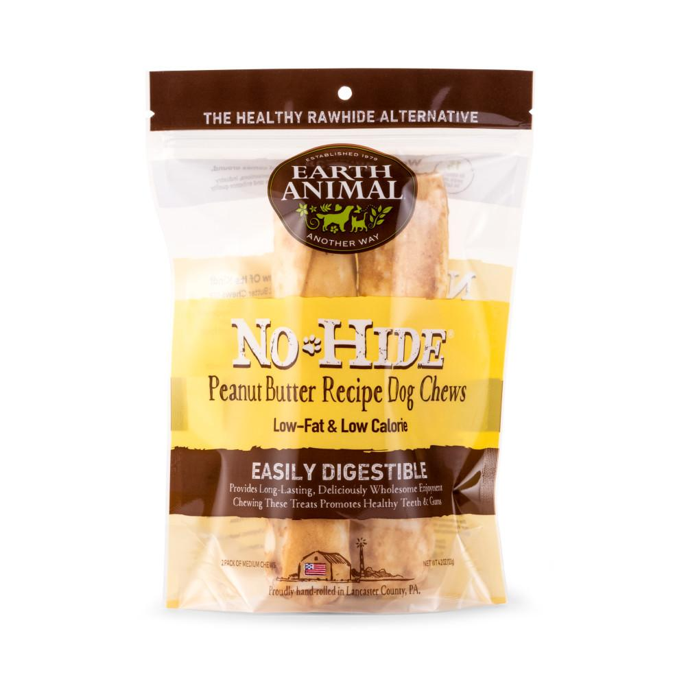 Earth Animal No-Hide Peanut Butter Chew Dog Treats, 7-in, 2-pack