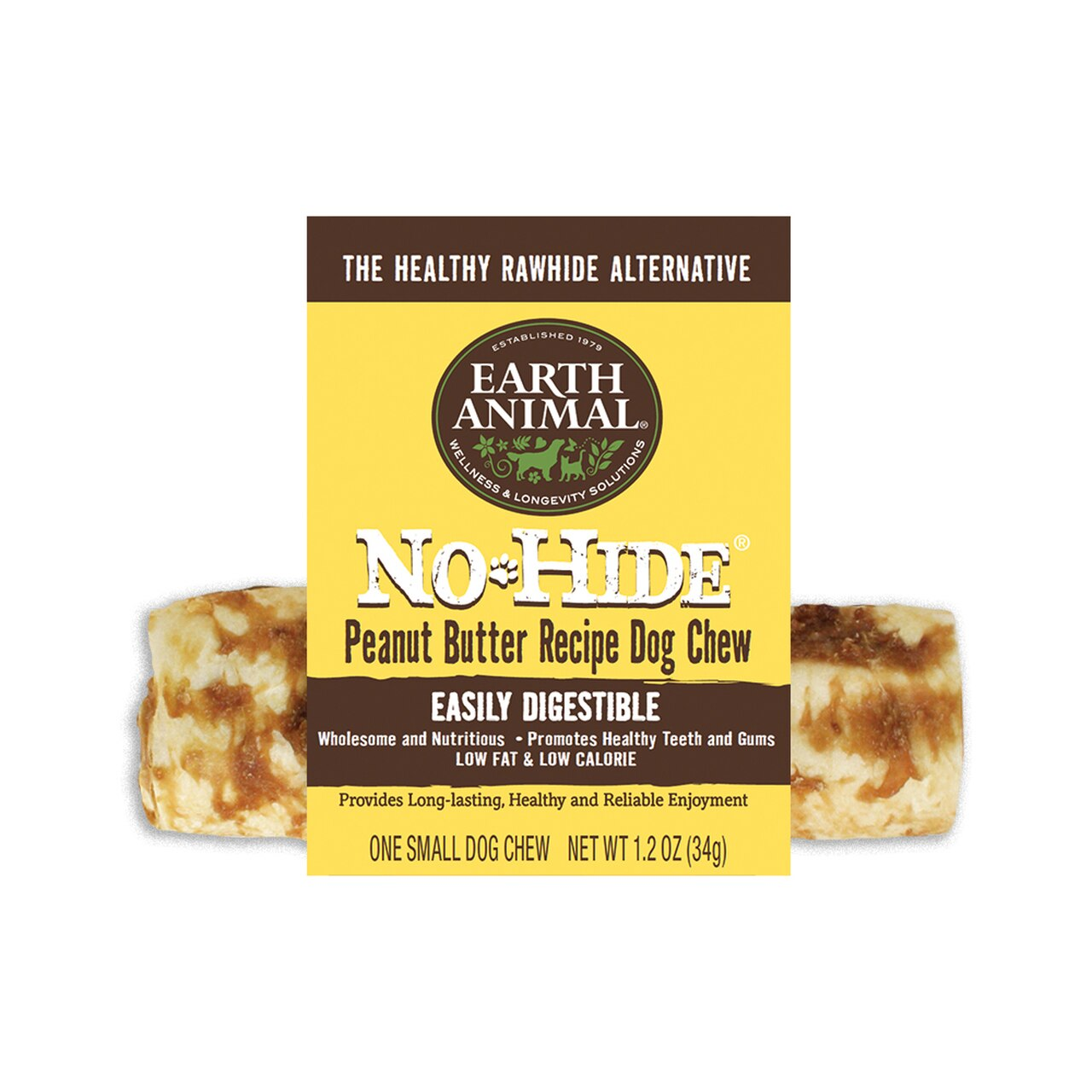 Earth Animal No-Hide Peanut Butter Chew Dog Treat, 4-in Image