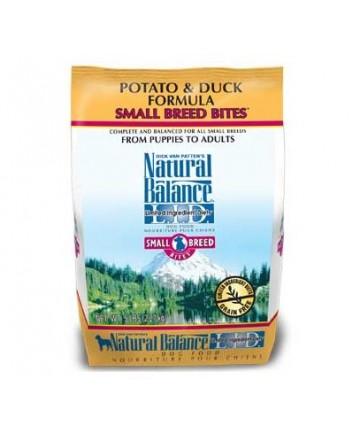 Natural Balance L.I.D. Limited Ingredient Diets Potato & Duck Formula Small Breed Bites Grain-Free Dry Dog Food, 5-lb